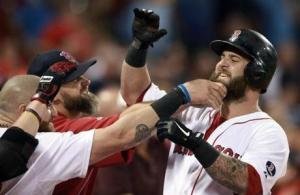 The Red Sox beards set the team apart from any other in the league. The personalities of the players in the clubhouse make them fun to watch. (Photo from Jim Davis of Boston Globe).