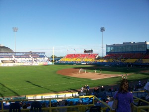 Last game at Rosenblatt Stadium (2010).